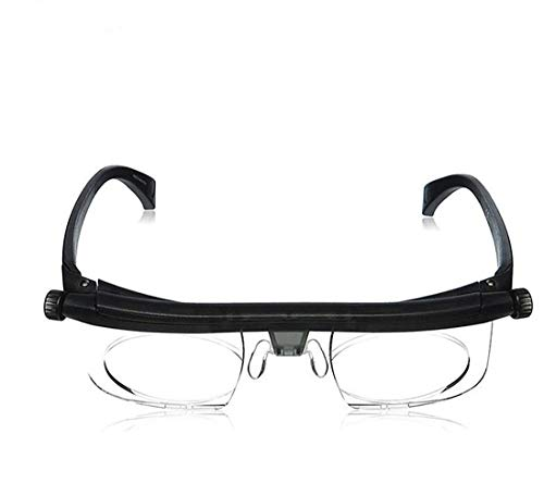 ZUZU Einstellbare Lesebrille Myopie-Brille -6D bis + 3D Variable Linsenkorrektur Fernglasvergrößerung Kurzsichtigkeit Weitsichtigkeit (32 Tv Plasma De)