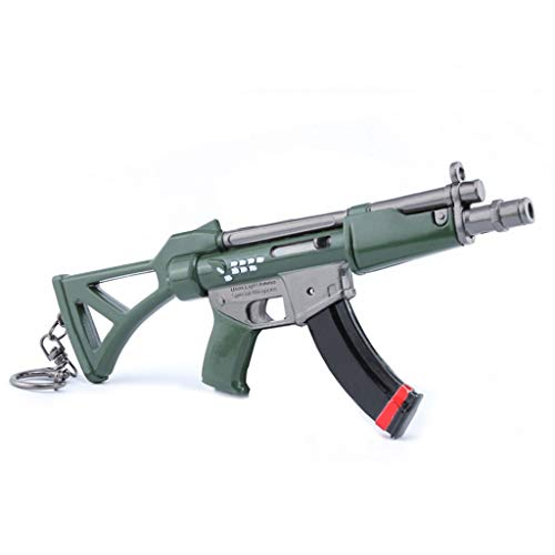 B&L MP5 Submachine Pistole Modell MP5 Keychain 1/6 Scale Car Key Buckle Weapon Modell Spielzeug Guns Modell Action Figure -