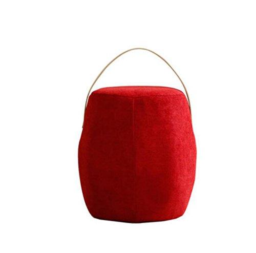 LYX® Sofa Farbe Hocker Farbe Modern Living Room Kreativität Hocker Low Hocker Pedal Tuch Art Solid Wood Home Einfache Mode Modern Northern Europe Kissen Kleine Holzbank, Schuhbank Leinen Kinderhocker