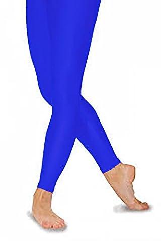 Legging/Collants sans pieds en nylon Lycra 8couleurs Bleu bleu marine 6-8 ans