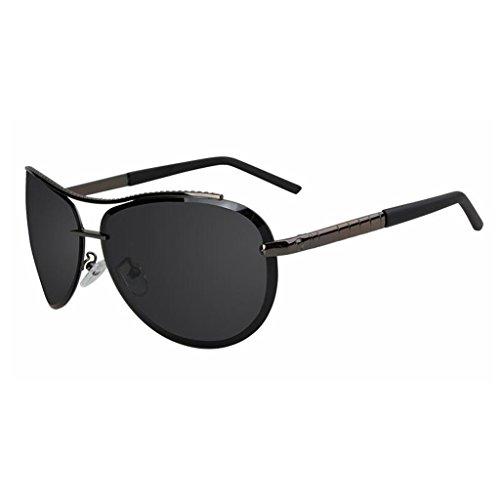 QZ HOME Sonnenbrillen Modisch Rahmenlos Polarisiertes Licht Spiegel Weinlese Treiber Fahren (Farbe : 2)