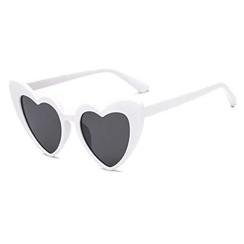 DAIYSNAFDN Liebe Herz Sonnenbrille Frauen Vintage Cat Eye Sonnenbrille Geschenk Herz Form Gläser 6