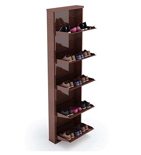 Peng Essentials SpaceSaver 5 Level 20 Inches Wide Shoe Rack (Brown)