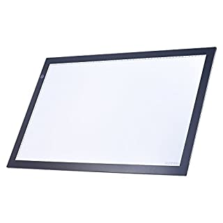Aibecy A2 Large Ultra-Thin LED Light Pad Box Painting Tracing Panel Copyboard Stepless Adjustable Brightness USB Powered for Tattoo Pencil Drawing X-Ray (A2 Light Pad)