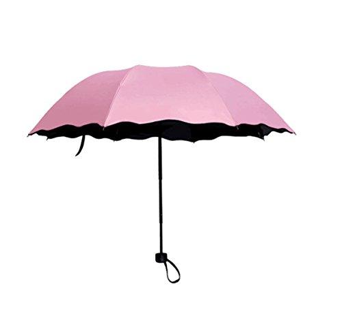 HAOYUXIANG Kreative Sonnenschirm Regenschirm,Pink