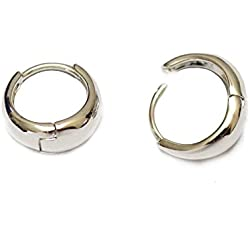 Via Mazzini Salman Khan Inspired Silver Metal Kaju Bali Hoop Earrings For Men And Women