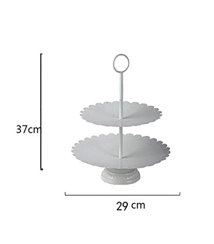 GXRMJ Piatto di frutta / europeo a tre livelli piatto di frutta / torta cremagliera / Afternoon Tea / Birthday Snack piastra ( dimensioni : 1# )