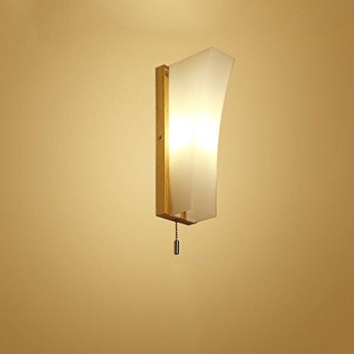 Great St. D G F Japanisch-Stil Massivholz Wandleuchte LED Leseleuchte mit Hand-Schalter Schlafzimmer Nachttischlampe -