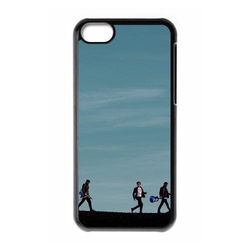 Coldplay coque iPhone 5C Housse téléphone Noir de couverture de cas coque EBDXJKNBO17112