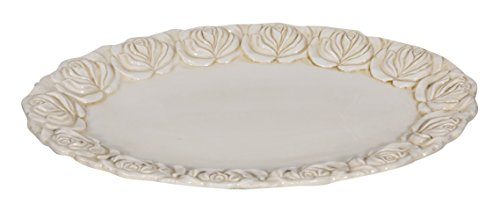 Biscottini Manele Plateau à Fruits Centre de Table en céramique de Bassano L42 x PR31 x H4 cm Fabriqué en Italie