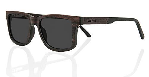 Barkey - Dehli Brille Grey Lens - Holz Sonnenbrille Herren und Damen Polarisiert - 100% Echtholz Handgefertigt