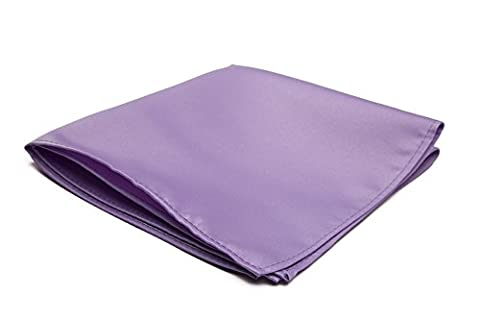 Jacob Alexander Solid Color Pocket Square - Lavender