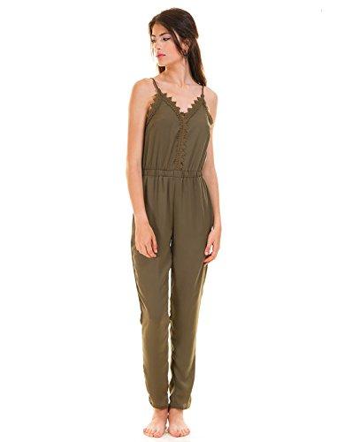 VILA CLOTHES Damen Vilany Jumpsuit, Grau (Granite Grey) - 5