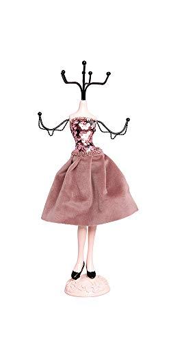 Alice's Collection Schmuckständer für Halskette, Ohrringe, Ringe, Schminktisch, Organizer, Schaufensterpuppe, Schmuckständer, dekorativer Aufhänger für Ihren Schmuck, Höhe 33 cm