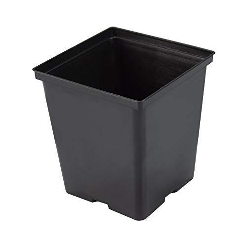 Recycling-kunststoff-square (1Liter Töpfen/quadratisch schwarz Kunststoff Nursey Blumentöpfe/Flower Kunststoff Pots für Plant Growing)