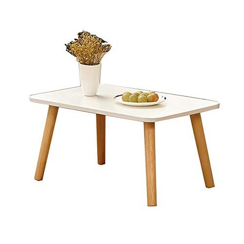 HAIZHEN Tables basses Table basse carrée, pieds en bois massif, table en baie vitrée, petite table d'appoint 40 × 30 × 30CM, 60 × 40 × 30cm (taille : 60×40×30cm)