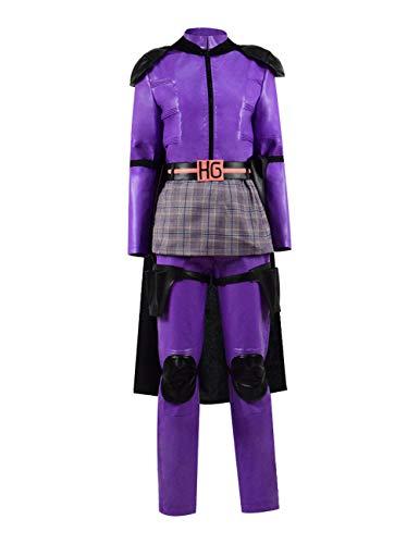Zhangjianwangluokeji Komödie Superheld Hit Kickass Girl Mindy Macready Kostüm Overall Halloween Cosplay (M-3T, Stil 2) (Kick Ass Und Hit Girl Kostüm)