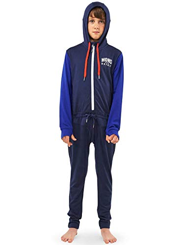 Mons Royale Jungen Groms Monsie One Piece, Navy/Electric Blue, 8 | 09420057411887