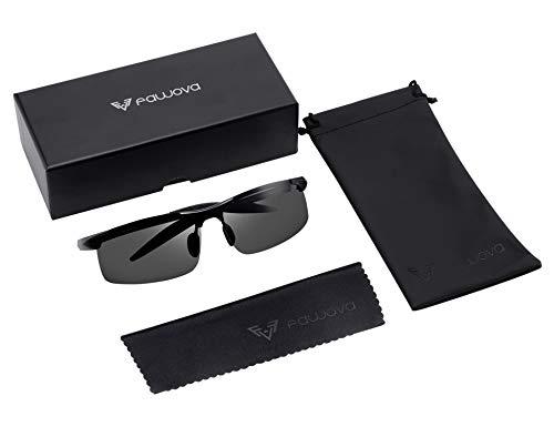 Fawova Fahrradbrille, Polarisiert Sonnenbrille Herren, Fahrrad Sportbrille mit UV400-Schutz Fahrbrille Radbrille Superleichtes Rahmen (schwarz)