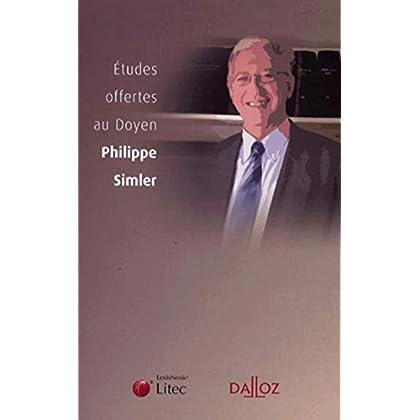 Etudes offertes au doyen Philippe Simler