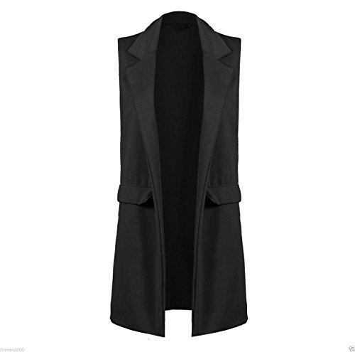 Janisramone - Blouson - Sans Manche - Femme * taille unique Noir