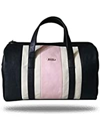 The 3 Colour Pink, White And Black 18 Ltr Travel Duffel Bag/Cabin Bag