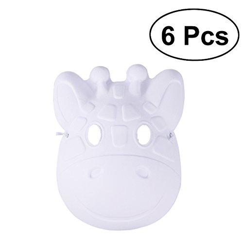OULII 6 stück Weißen Maske Tiermaske Weihnachten Kitz-Form -