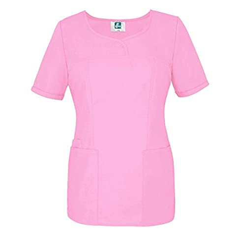 Adar Universal Sweetheart V-neck Top Scrub Top (Available in 16 colors) - 628 - Sherbet - M