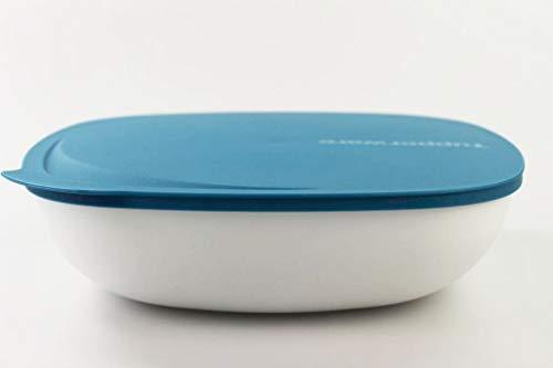 Tupperware Ciotola Allegra 2,5 L Bianco Turchese 34104