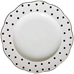 Plato de desayuno Retro placa de cerámica vajilla onda rayado placa en onda