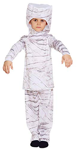 Mädchen Jungen Halloween-Mumie ägyptisch Historisch Büchertag Kostüm Kleid Outfit 4-12 Jahre - Weiß, One Size