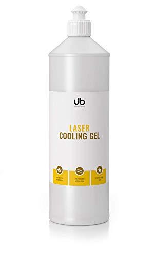 UB Laser Cooling Gel - Kühlgel für Lasertherapie - Lasergel zur Verwendung mit IPL & Lichttherapie. Kontaktgel reduziert Schmerzen. Verhindert ein Überhitzen der Haut - 500 ml