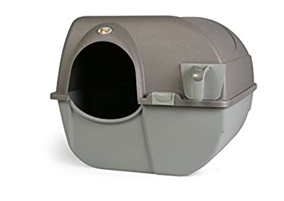Omega Paw Roll 'n Clean New Litter Box, Brown, Large by Omega Paw