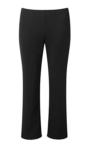"Direct Uniforms Girls-School Trousers Pull On-Elastic Waist-18Mth-14Yrs, Size:12-13Yrs (36) 26""(66Cm) Waist 25.5""(65Cm)Inside Leg , Color:Black"