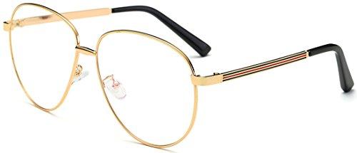Sojos lente metal Aviator Marco hombres mujeres gafas gafas gafas sj5004 C3 Gold Frame