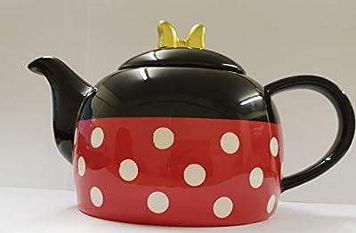 Disney Minnie Mouse Théière Noir et rouge