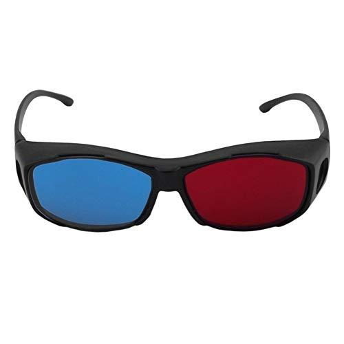 Universal Typ 3D Brille TV Film Dimensional Anaglyph Video Frame 3D Vision Brille DVD Spiel Glas Rot Und Blau Farbe (Frame Color : Black)