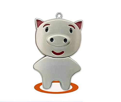 4 Gb U3-usb (USB Flash Laufwerk Speicherstick Drive USB2.0 Kreativ Metall Schweinchen 4/8/16/32 / 64GB schnelle Geschwindigkeit Sicherheit Mini PC Fernseher (4GB, Silber))