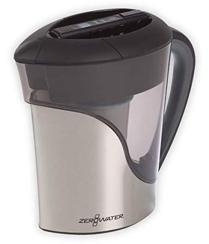 ZeroWater ZS-011RP Krug für 11 Tassen, Edelstahl -