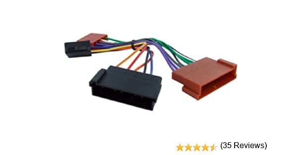 ford iso car stereo radio wiring harness loom adaptor lead amazon ford iso car stereo radio wiring harness loom adaptor lead amazon co uk electronics