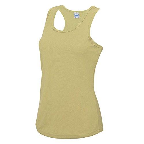 AWDis Damen Modern T-Shirt Gr. M, Desert Sand (Ringer Go Green T-shirt)