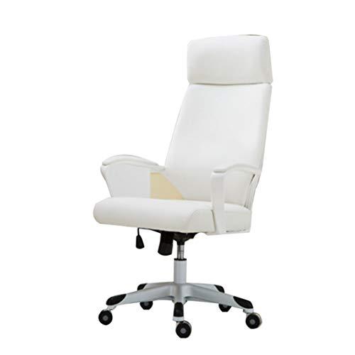KAOLLA E-Sportstuhl 360-Grad-Rotation ergonomisches Design PU-Leder robuster, Stabiler und haltbarer Bürostuhl,White
