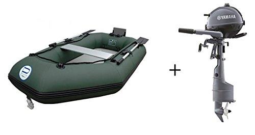 Schlauchboot mit Motor Prowake IBA250 Angelboot mit Yamaha F2.5BMHS Außenborder