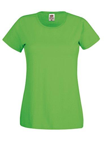 Fruit of the Loom - T-shirt - Femme Vert - Citron vert