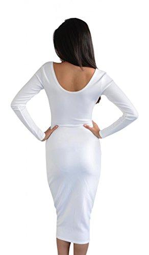 Glamzam -  Vestito  - Donna Bianco