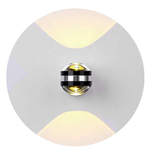 Kolalala LED Wandleuchte Halb Globe Modern Aluminium für Schlafzimmer Treppenhaus Flur Warmweiß Wandlampe
