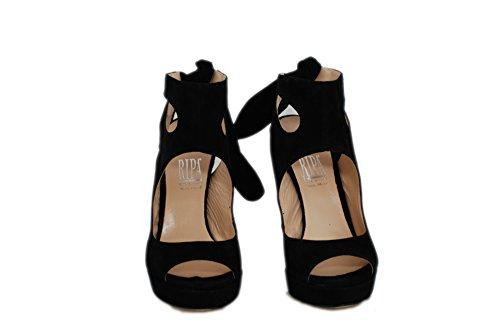 Sandalo RIPA tacco alto con plateaux Nero