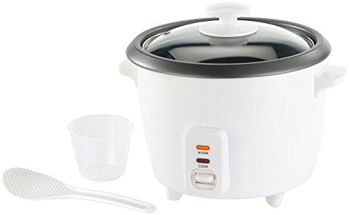 Rosenstein & Söhne Kocher: Reiskocher mit Warmhaltefunktion, 400 Watt, 1 Liter Fassungsvermögen (Mini-Reiskocher)
