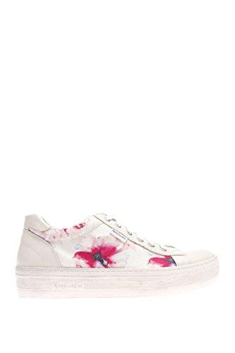 Nero Giardini P615263D Chaussures Femme-711 Sneaker cuir/textile Blanc Cassé - Latte