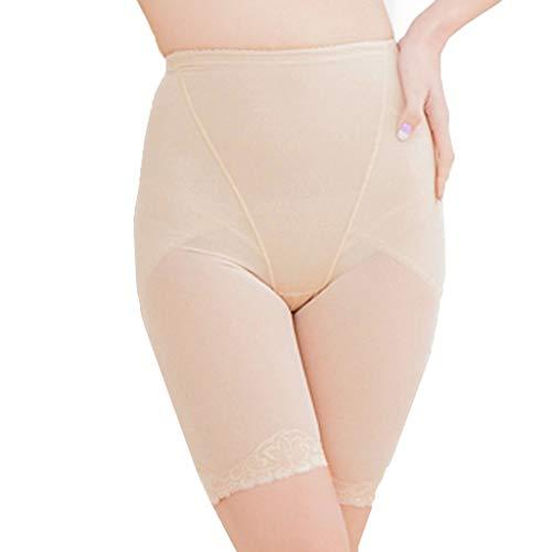 Shapeware Damen Shapewear Shorts High Waist Panty Mitte Oberschenkel Body Shaper Bodysuit Hohe Taille und Bauch die Unterwäsche Formen (Khaki,L) -